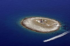 Μόνος φάρος νησιών Στοκ Φωτογραφία