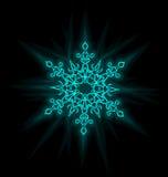 Μόνος-φωτισμένο snowflake ελεύθερη απεικόνιση δικαιώματος