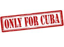 Μόνο για την Κούβα διανυσματική απεικόνιση