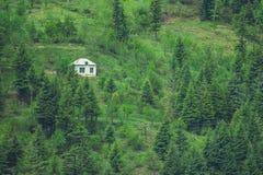 μόνο λευκό σπιτιών Στοκ Φωτογραφίες