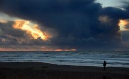Μόνο ηλιοβασίλεμα σε California& x27 σημείο Reyes National Seashore του s Στοκ φωτογραφίες με δικαίωμα ελεύθερης χρήσης