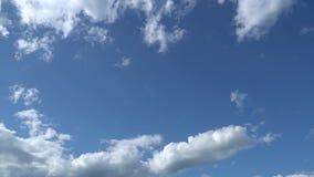 Μόνο θερινός μπλε ουρανός με γρήγορα να κινήσει τα μεταμορφικά άσπρα σύννεφα Πλήρες μήκος σε πόδηα χρονικού σφάλματος HD απόθεμα βίντεο