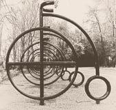 μόνο οδικό σύμβολο ποδηλατών ποδηλάτων Στοκ Φωτογραφία