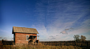 Μόνο παλαιό σπίτι στοκ φωτογραφία