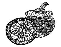 μόνο mangosteen καρπού ανασκόπησης λευκό στάσεων Hand-drawn κινούμενα σχέδια, απεικόνιση Στοκ Εικόνες