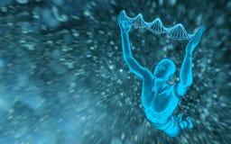 Μόρια και άτομα DNA Στοκ φωτογραφίες με δικαίωμα ελεύθερης χρήσης