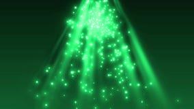 Μόρια και ηλιόλουστο φως σπινθηρίσματος απεικόνιση αποθεμάτων
