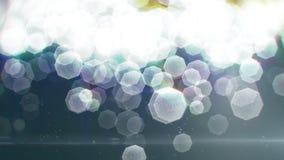 Μόρια που πετούν στον αέρα (βρόχος) απόθεμα βίντεο