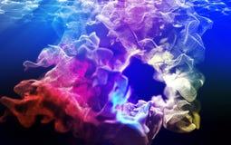 Μόρια Varicoloured, τρισδιάστατη απεικόνιση Στοκ Φωτογραφίες