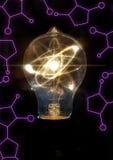 Μόριο ατόμων Lightbulb Στοκ Εικόνες