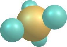 Μόριο μεθανίου στο λευκό Στοκ φωτογραφίες με δικαίωμα ελεύθερης χρήσης