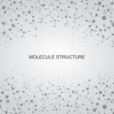 Μόριο δομών του DNA και των νευρώνων αφηρημένη ανασκόπηση Στοκ Εικόνα