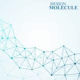 Μόριο δομών του DNA και των νευρώνων αφηρημένη ανασκόπηση Στοκ Εικόνες