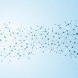 Μόριο δομών του DNA και των νευρώνων αφηρημένη ανασκόπηση Στοκ φωτογραφία με δικαίωμα ελεύθερης χρήσης