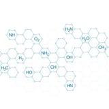 Μόριο δομών του DNA και των νευρώνων Στοκ Εικόνες