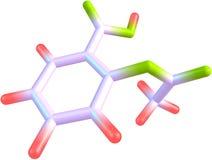 Μόριο της aspirin Στοκ εικόνα με δικαίωμα ελεύθερης χρήσης