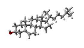 μόριο χοληστερόλης Στοκ Φωτογραφίες