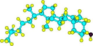 Μόριο Cholesterole στο άσπρο υπόβαθρο Στοκ Εικόνες