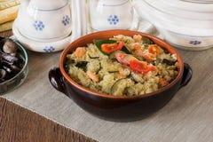 Μόριο Cous Cous shrmps και λαχανικά Στοκ φωτογραφίες με δικαίωμα ελεύθερης χρήσης