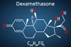 Μόριο Dexamethasone Αυτό το αντιφλεγμονώδες φάρμακο είναι μια corticosteroid ορμόνη glucocorticoid Χρησιμοποιείται για να μεταχει ελεύθερη απεικόνιση δικαιώματος