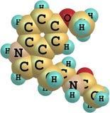 Μόριο Melatonin που απομονώνεται στο λευκό Στοκ εικόνα με δικαίωμα ελεύθερης χρήσης