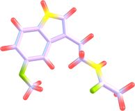 Μόριο Melatonin που απομονώνεται στο λευκό Στοκ φωτογραφίες με δικαίωμα ελεύθερης χρήσης
