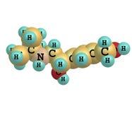 Μόριο Salbutamol στο λευκό Στοκ εικόνα με δικαίωμα ελεύθερης χρήσης