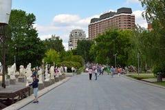 Μόσχας, Ρωσία, θέση Μαΐου, 12.2015, πάρκο Muzeon στο κέντρο της πόλης, των περιπάτων και των γλυπτών από τη Σοβιετική Ένωση και c Στοκ Εικόνες