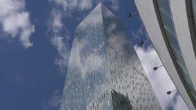Μόσχα Άποψη του διεθνούς πύργου ` εμπορικών κέντρων ` Oko της Μόσχας απόθεμα βίντεο