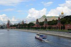 Μόσχα, άποψη του Κρεμλίνου και ο ποταμός της Μόσχας Στοκ εικόνες με δικαίωμα ελεύθερης χρήσης