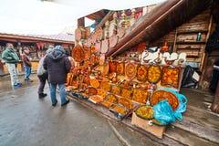 Μόσχα - 22 04 2017: Η αγορά σε Izmailovsky Κρεμλίνο, Μόσχα Στοκ Φωτογραφίες
