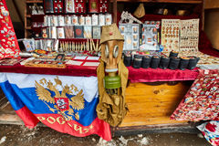 Μόσχα - 22 04 2017: Η αγορά σε Izmailovsky Κρεμλίνο, Μόσχα Στοκ φωτογραφίες με δικαίωμα ελεύθερης χρήσης