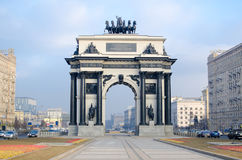 Μόσχα, θριαμβευτική, αψίδα στοκ εικόνες