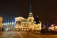 Μόσχα - 10 Ιανουαρίου 2017: Σταθμός τρένου Yaroslavsky στη Μόσχα, ν Στοκ Εικόνα