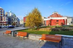 Μόσχα Λόμπι εδάφους του σταθμού ` Arbat ` μετρό Στοκ Εικόνα