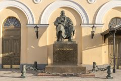 Μόσχα Μνημείο στο δραματουργό Ostrovsky στοκ εικόνες