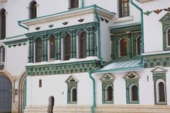 Μόσχα μοναστήρι νέα Ρωσία της Ιερουσαλήμ Ιούνιος του 2007 23$ο Κεραμικό ντεκόρ του ναού Στοκ Εικόνες