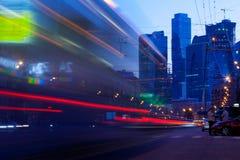 Μόσχα - μπορέστε 22 Τοπίο νύχτας πόλεων της Μόσχας Στοκ φωτογραφία με δικαίωμα ελεύθερης χρήσης