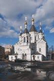 Μόσχα Ναός του αρχαγγέλου Michael στις κλινικές μέσα Στοκ εικόνα με δικαίωμα ελεύθερης χρήσης