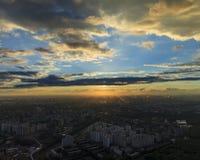 Μόσχα πέρα από το ηλιοβασίλ&e Στοκ φωτογραφία με δικαίωμα ελεύθερης χρήσης