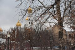 Μόσχα περπάτημα στο χειμώνα της Μόσχας στοκ φωτογραφία