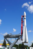 Μόσχα, πύραυλος vostok-1, ένα μνημείο στο σοβιετικό διαστημικό πρόγραμμα στοκ εικόνα