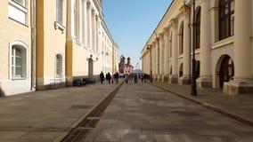 Μόσχα, Ρωσία - 14 Απριλίου 2018 Πάροδος ψαριών - για τους πεζούς οδός στο κέντρο της πόλης απόθεμα βίντεο