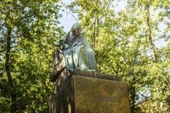 Μόσχα, Ρωσία - 16 Αυγούστου 2017: Μνημείο στο σπουδαίο Ρώσο και τον ουκρανικό συγγραφέα Nikolai Gogol στη Μόσχα, Ρωσία Στοκ εικόνα με δικαίωμα ελεύθερης χρήσης