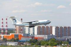 Μόσχα, Ρωσία - 12 Αυγούστου 2017 σοβιετικό αεροπλάνο μεταφοράς εμπορευμάτων IL-76 Στοκ φωτογραφίες με δικαίωμα ελεύθερης χρήσης