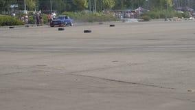 Μόσχα, Ρωσία - 19 Αυγούστου 2017: Όλος-ρωσικό ετήσιο φεστιβάλ των αυτοκινήτων, μετατόπιση ανταγωνισμού απόθεμα βίντεο