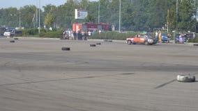 Μόσχα, Ρωσία - 19 Αυγούστου 2017: Όλος-ρωσικό ετήσιο φεστιβάλ των αυτοκινήτων, μετατόπιση ανταγωνισμού φιλμ μικρού μήκους
