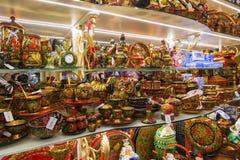 Μόσχα, Ρωσία - 10 Ιανουαρίου 2015 Ξύλινα στοιχεία Στοκ Εικόνες