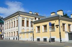 Μόσχα, Ρωσία, 12 Ιουνίου, 2017 Οδός πόλων Vorontsovo, που χτίζει 13 Οι farmstead 18$ος-20οί αιώνες Σπίτι του Π Α Syreyschiko Στοκ Φωτογραφίες