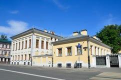 Μόσχα, Ρωσία, 12 Ιουνίου, 2017 Οδός πόλων Vorontsovo, που χτίζει 13 Οι farmstead 18$ος-20οί αιώνες Σπίτι του Π Α Syreyschiko Στοκ Φωτογραφία
